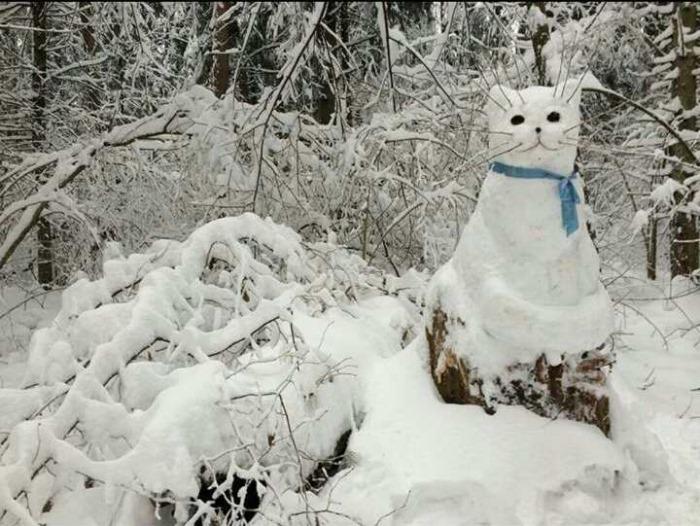 Котик - снегокотик