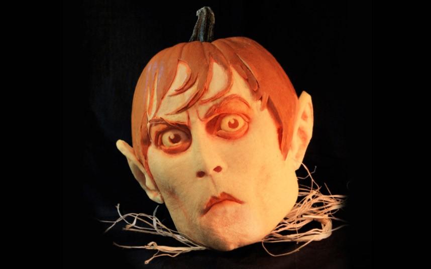 Граф Дракула - тыква на Хелоуин