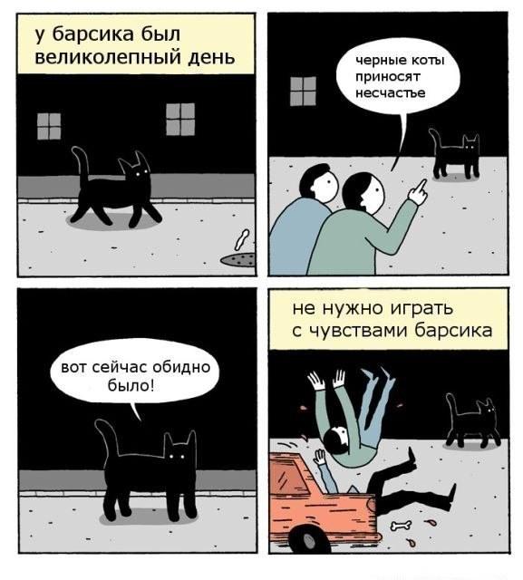 Черный кот, собака, мстительный