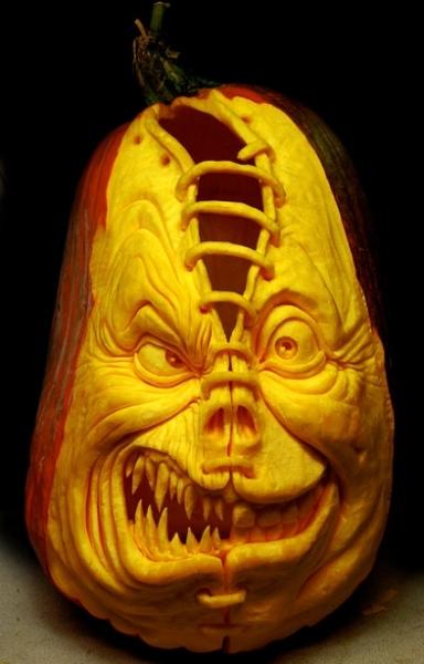 Прикольные тыквы на Хэллоуин