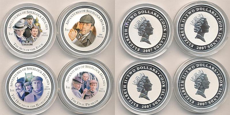 Монета Шерлок Холмс с Ливановым