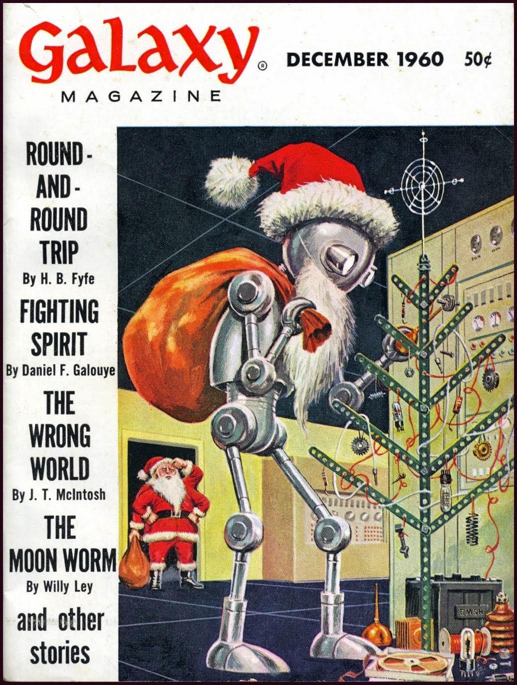 Новогодняя обложка американского научно-фантастического журнала